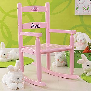 Personalized Rocking Chair for Girls - Pink