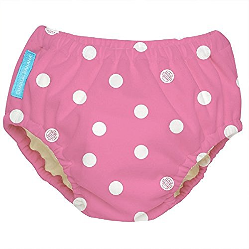Charlie Banana Extraordinary Best Reusable Swim Diaper (X Large, Big Polka Dot)