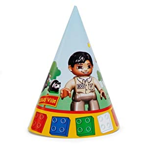 Click to buy LEGO® Ville Cone Hats (8) Party Supplies from CelebrateExpress!