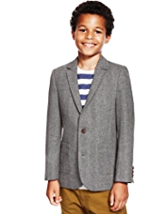 Autograph 2 Button Herringbone Blazer with Wool