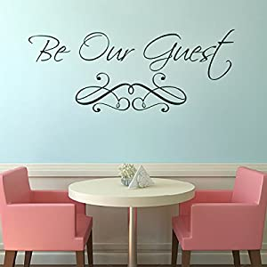Custom vinyl wall quotes guest bedroom wall for Dining room wall quote decals