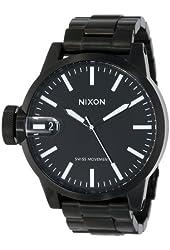 Nixon Men's Chronicle Sterling Silver Watch One Size Black