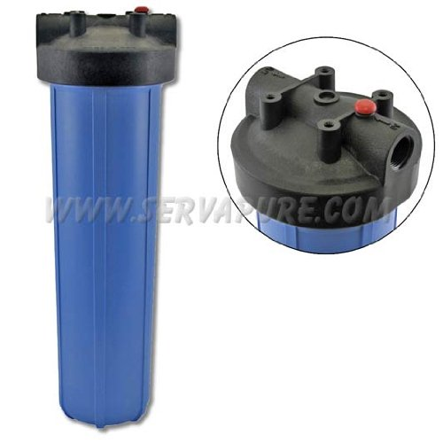 "Pentek 150233, 20"" Big Blue Housing 1"" In/Out With Pressure Release"