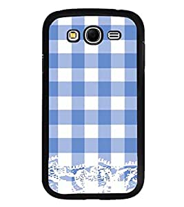 Vizagbeats Blue Checks Pattern Back Case Cover For Samsung Galaxy Grand2 G7102