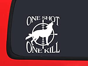 Amazon.com: One Shot - One Kill - Coyote Hunting Decal ...