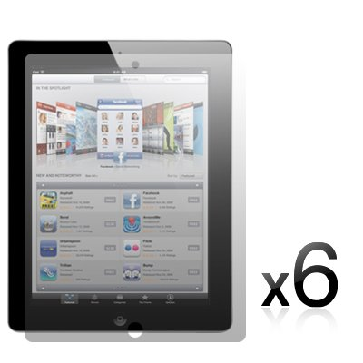 APPLE IPAD 2 TABLET (2nd Generation, 9.7 INCH) SCREEN PROTECTOR 6-IN-1 PACK PART OF THE QUBITS ACCESSORIES RANGE