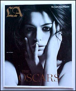 The Los Angeles Times Magazine Anne Hathaway Cover The Oscars