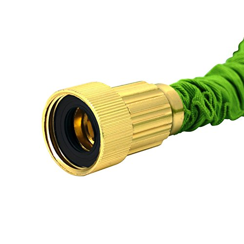 Magic vida 100 feet expandable garden hose with 8 functions spray nozzle super flexible 100ft Expandable garden hose 100 ft