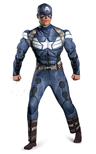 JWUP Men's Hallowen Cosplay Costumes The Avengers Captain America Cosplay for Adult
