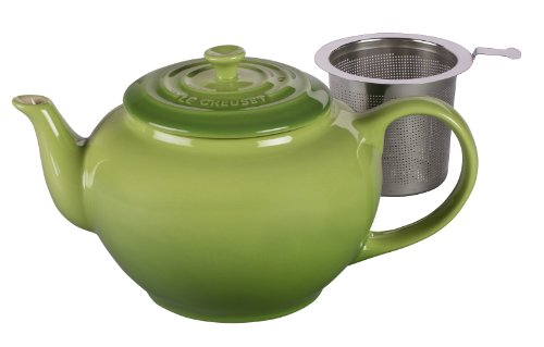 Best Price Le Creuset Stoneware Teapot with Stainless Steel Infuser, Large, Palm