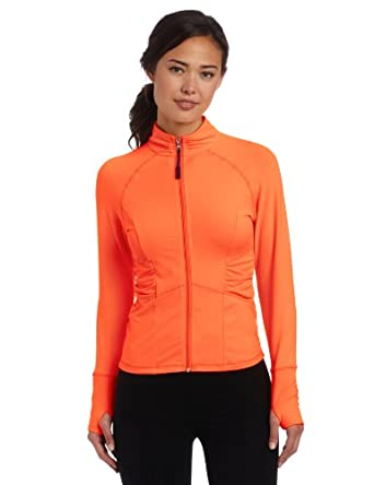 (暴低)Calvin Klein 女款长袖运动卫衣 Women's Swerve Jacke 橙色 $23.25
