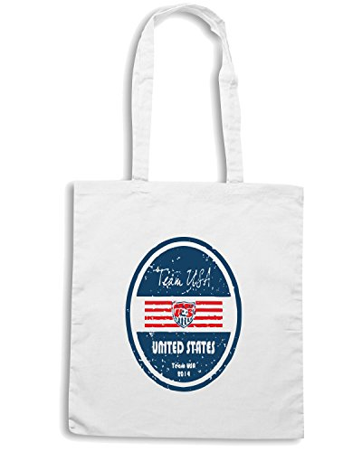 T-Shirtshock - Borsa Shopping WC0677 World Cup Football - United States, Taglia Capacita 10 litri