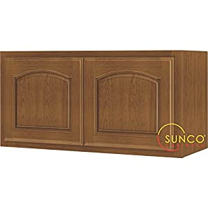 Kitchen Cabinet Oak 2 Dr 30x15 Wall Mounted Cabinets