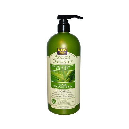 Hand & Body Lotion - Unscented Aloe Avalon Organics 32 oz Lo