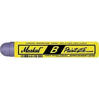 Markal 80228 B Paintstik Solid Paint Ambient Surface Marker, Purple (Pack of 12)