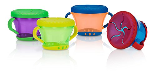 Nuby 2 Pack Snack Keeper, Colors May Vary