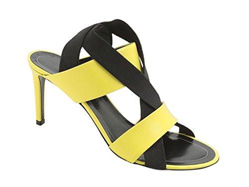 Sandali tacco alto Balenciaga in pelle Giallo fluo - Codice modello: 372934 WA01Y 7251 - Taglia: 38.5 IT