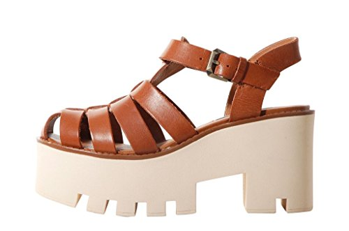 Windsor Smith Fluffy Platform Sandal Tan - Sandali Marroni