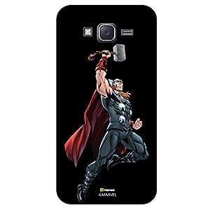 Hamee Original Marvel Character Licensed Designer Cover Slim Fit Plastic Hard Back Case for Samsung Galaxy On5 / On 5 (Thor Pose/Black )