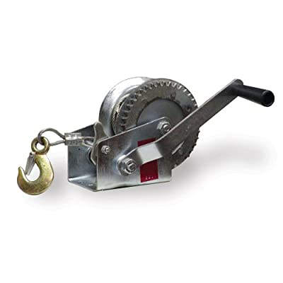 """Sportsman Series W1000 1000 lb 1/4"""" x 32' Steel Cable Hand Winch"""