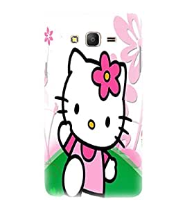 printtech Kitty Cat Cute Back Case Cover for Samsung Galaxy On7