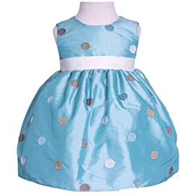 New Multi Colored Polka Dot Sleeveless Dress (Turquoise or Pink) Sizes 6M to 24M