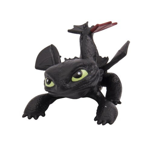 Dreamworks Dragons Defenders of Berk Mini Dragons Toothless Night Fury Action Figure - 1