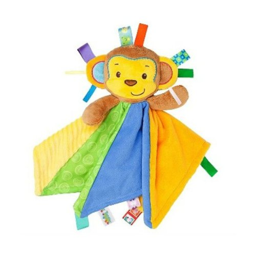Taggies Patchkin Blankies Pals Monkey Plush Security Blanket Lovey front-1048907