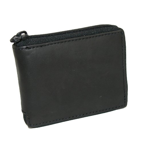 05. Paul & Taylor Mens Leather Zippered Bifold Wallet