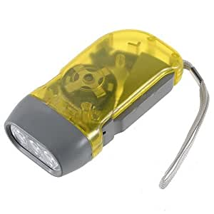 Dcolor jaune 3 led pressee manuel sans batterie a for Lampe dehors
