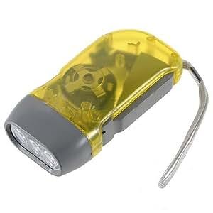 Lampe Dehors Of Dcolor Jaune 3 Led Pressee Manuel Sans Batterie A