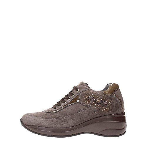 4US CESARE PACIOTTI MMED4W Sneakers Donna Pelle Taupe Taupe 37