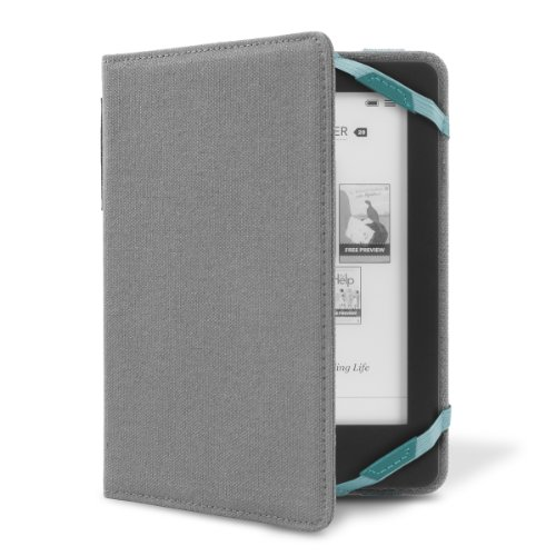 Cover-Up Kobo Glo eReader Canvas Vision Cover Case - Smoke Grey at Electronic-Readers.com