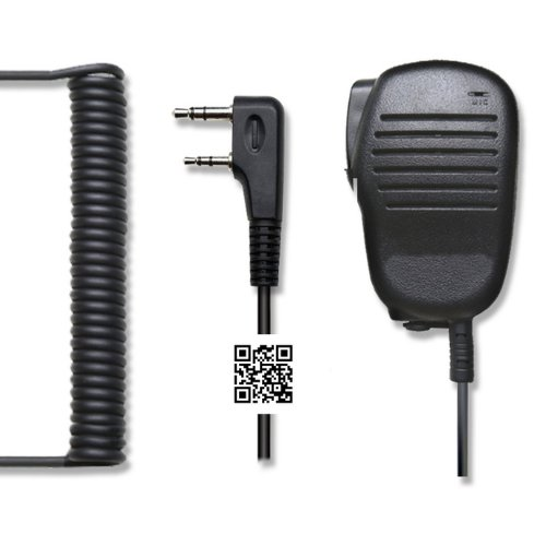 Hypario®-Rainproof 2-Pin Shoulder Remote Speaker Mic Microphone Ptt For Kenwood Wouxun Puxing Baofeng Two Way Radio 2Pin