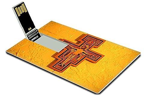 MSD 16GB USB Flash Drive 2.0 Memory Stick Credit Card Size IMAGE ID: 4121815 San Damiano Cross - Franciscans San Damiano