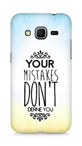 AMEZ your mistakes dont define you Back Cover For Samsung Galaxy Core Prime