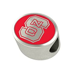 North Carolina State Wolfpack Charms Fit Most Pandora Style Charm Bracelets