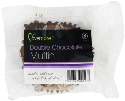 Lovemore Gluten Free Rich Chocolate Muffins Individually Wrapped (Pack of 12, Total 12 Muffins)