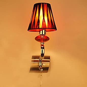Wall Lamps Red : 1 - Light Stylish Wall Light in Red Accent - Wall Porch Lights - Amazon.com