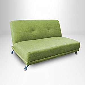 Lime Green 2 Seater Convertible Clic Clac Childrens Sofa Bed from Ready Steady Bed