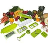 NexGen 12 PC Genius Nicer Dicer Plus Multi Chopper Vegetable Cutter Fruit Slicer - With Product Holder Guide