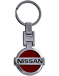 Techpro Premium Quality Metal Keychain With Red Nissan Design