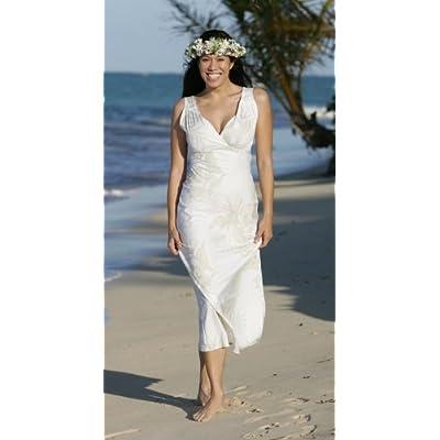 Queen Liliuokalani Hawaiian Wedding Dress -- Alii Collection Beach Wedding Dress