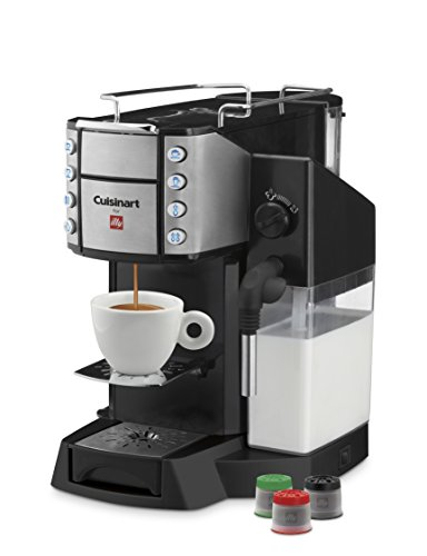 Cuisinart EM-600 Buona Tazza Superautomatic Single Serve Espresso Caffe Latte Cappuccino and Coffee Machine, Black