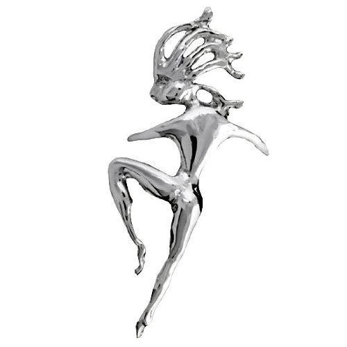 Sterling Silver Left Only Pierceless Dancing Woman Ear Cuff