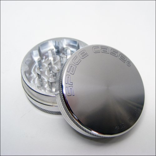 Small Space Case® Aluminum Grinder 2 Piece Magnetic Top + Cali Crusher® Pollen Press (Scm-2(S)+Ccp)