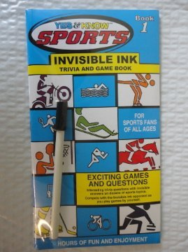 Yes and Know Sports Invisible Ink Trivia Book 1 - 1