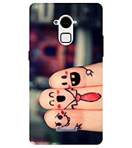 Chiraiyaa Designer Printed Premium Back Cover Case for Coolpad Note 3 (friends love) (Multicolor)