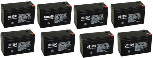 12V 9Ah Battery Sla9-12/T25 Replacement For Rhino Battery Each - 8 Pack