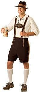 InCharacter Costumes Men's Bavarian Guy Costume, Brown/Tan, Medium